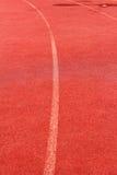 Laufende Spur für Athleten Lizenzfreies Stockbild