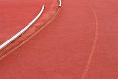 Laufende Spur für Athleten Stockfotos