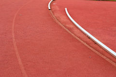 Laufende Spur für Athleten Lizenzfreie Stockfotos