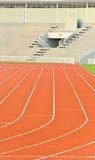 Laufende Spur und Stadion Lizenzfreie Stockfotos