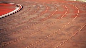 Laufende Spurzeilen Laufbahn für den Athletenhintergrund lizenzfreies stockfoto