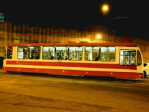 Laufende Tram stockfoto