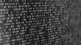 Laufende verschlüsselte Daten stock video
