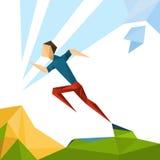 Laufender Athlet Sprinter Sport Competition Lizenzfreie Stockfotos