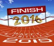 Laufender Hintergrund des guten Rutsch ins Neue Jahr-2015 Stockbild