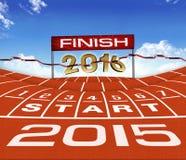 Laufender Hintergrund des guten Rutsch ins Neue Jahr-2015 Lizenzfreie Stockfotografie