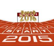 Laufender Hintergrund des guten Rutsch ins Neue Jahr-2015 Stockfotos