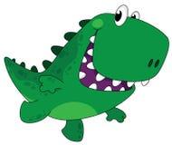 Laufender lustiger Dino Stockbild