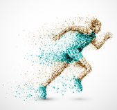 Laufender Mann Stockfoto