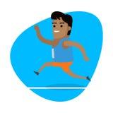 Laufender Mann, Sport-Ikone Stockfotografie