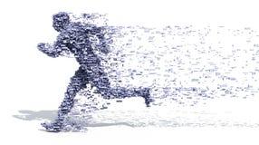 Laufender Mann von den Blöcken Lizenzfreies Stockfoto