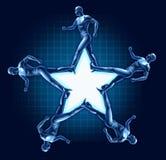 Laufender menschlicher Sternformgesundheits-Übungspreis Stockbilder