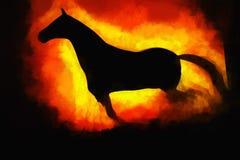 Laufender Pferdeillustrationshintergrund Lizenzfreie Stockfotos