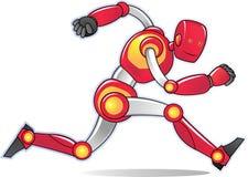 Laufender roter Roboter Stockfotos