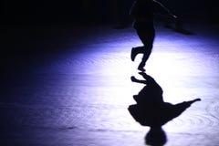Laufender Schatten Lizenzfreies Stockfoto