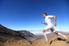 Laufender Sportseitentriebsmann Lizenzfreie Stockfotos