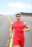 Laufender Triathlonathletenläufer Stockbild