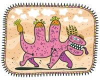 Laufender ungewöhnlicher rosa Drache Stockbilder