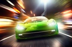 Laufendes Auto Lizenzfreie Stockfotos