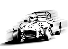 Laufendes Auto lizenzfreie abbildung