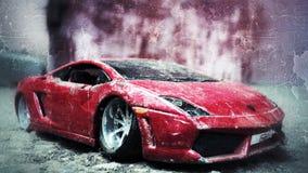 Laufendes Auto stockfoto