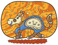 Laufendes dekoratives fantastisches Tier vektor abbildung