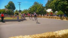 Laufendes Festival des Pennyfarthing-Fahrrades lizenzfreies stockbild