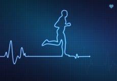 Laufendes gesundes Herz Stockfotografie
