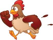 Laufendes Huhn der Karikatur Stockfotos