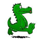 Laufendes Krokodil Lustiges Krokodil Karikaturalligator lizenzfreie abbildung