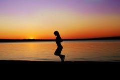 Laufendes Mädchen Stockbild
