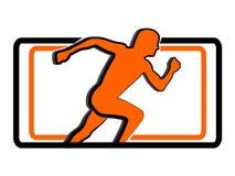 Laufendes Mannzeichen des Sports stock abbildung