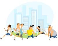Laufendes Marathon der Leute Lizenzfreie Stockbilder