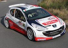 Laufendes Peugeot 207 Lizenzfreies Stockfoto