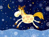 Laufendes Pferd im Winter Lizenzfreie Stockfotos
