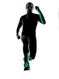 Laufendes rüttelndes Rüttlerschattenbild des Mannläufers Stockfoto
