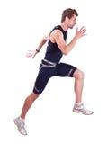 Laufendes sportman Lizenzfreie Stockbilder