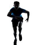 Laufendes Sprintersprinten des Mannseitentriebes Lizenzfreie Stockbilder