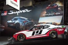 Laufendes Supra-NASCAR Rennauto Toyotas Entwicklungs- stockfotografie