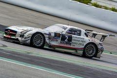 Laufendes Team HPs Mercedes-sls amg gt3 24 Stunden von Barcelona Lizenzfreies Stockbild