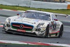 Laufendes Team HPs Mercedes-sls amg gt3 24 Stunden von Barcelona Lizenzfreies Stockfoto