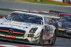 Laufendes Team HPs Mercedes-sls amg gt3 24 Stunden von Barcelona Stockbild
