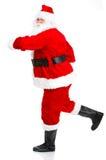 Laufendes Weihnachten Sankt Lizenzfreie Stockfotos