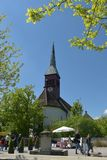 Laufer-Schloss an einem sonnigen Tag stockbilder