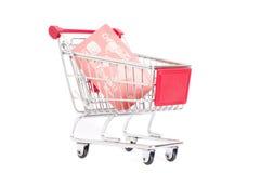 Laufkatze und Kreditkarte Lizenzfreies Stockfoto