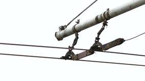 Laufkatzen-elektrische Linie stock footage