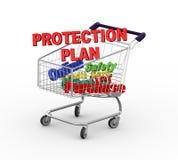 Laufkatzen-Schutzplan des Warenkorbes 3d Stockfoto