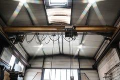 Laufkraninnenansicht, wenig Metallfabrik Stockbilder