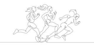 Laufweiblicher Mädchensport der eignung lizenzfreie abbildung
