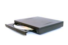Laufwerk des External CD/DVD Stockfoto